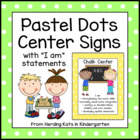 Pastel Dots Center Signs