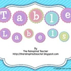 Pastel Table Labels Freebie