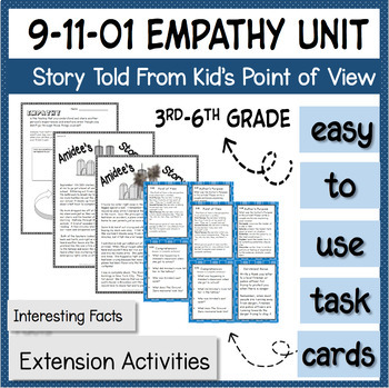 Patriot Day Lesson Reading Task Cards September 11th 9/11 2001 *empathy*