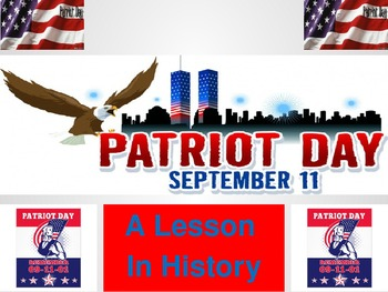 Patriot Day Powerpoint and Activity 9-11