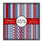 Patriotic Paper Collection {12x12 Digital Papers for Comme