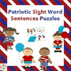 Patriotic Sight Word Puzzles