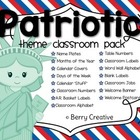 Patriotic Theme Classroom Pack