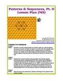 Patterns & Sequences, Pt. II (Middle School Lesson Plan)