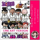 Patti's science kidlettes LINE ART bundle by melonheadz