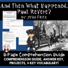 Paul Revere American Revolution book by Jean Fritz Common Core
