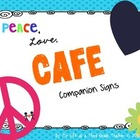 Peace, Love, CAFE Headers