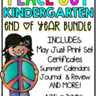 Peace Out Kindergarten! End of year BUNDLE!