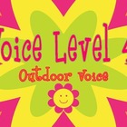 Peace Themed Voice Level Posters