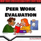 Peer Work Evaluation Form