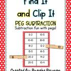 Peg Subtraction - Numbers less than Twenty