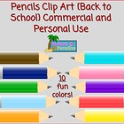 Pencils Clip Art {Back to School} Commercial and Personal Use