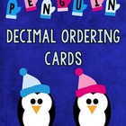 Penguin Decimal Ordering Cards