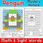 Penguin Mystery Picture Activity: Math and Literacy Options