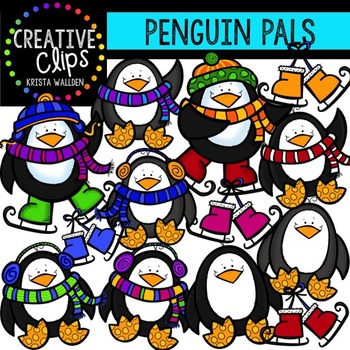 Penguin Pals {Creative Clips Digital Clipart}