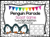 Penguin Parade Scoot~ Two-Digit Addition {No Regrouping}