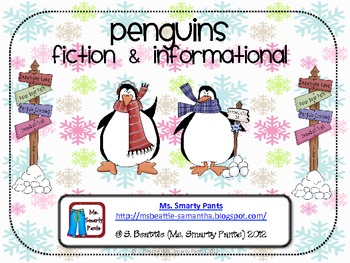 Penguin Reading Response Activities