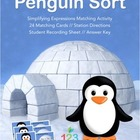 Penguin Sort - Simplify Algebraic Expressions Matching Act