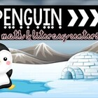 Penguins Math and Literacy Centers