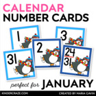 Penguins Skate Calendar Numbers