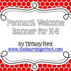 Pennant Welcome Banner - Rainbow Hexagonal - FREE