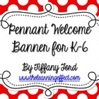 Pennant Welcome Banner - Rainbow Polka Dots - FREE
