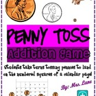 Penny Toss Addition Game! (Great Center or Workstation!)