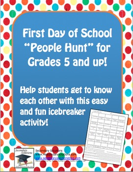 People Hunt for First Day of School - Any Subject, Upper Grades
