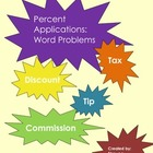 Percent Applications: Tax, Tip, Discount, Commission Word