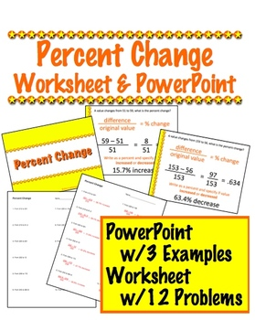 Percent Change PowerPoint & Worksheet
