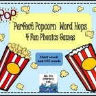 Perfect Popcorn Word Hop- Short Vowels