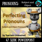 Perfecting Pronouns Grammar PowerPoint Lesson and Test Prep