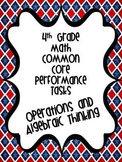 Performance Based Tasks for 4th Grade Common Core *Operati