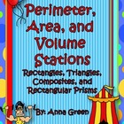 Perimeter, Area, Volume Stations - Math Centers