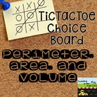 Perimeter, Area, and Volume TicTacToe Extension Activities