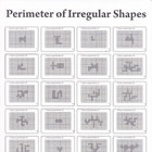 Perimeter of Irregular Shapes Worksheet (Black & White)