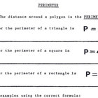 Perimeter of Polygons - Spanish Version