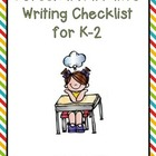 Personal Narrative Checklist for K-2