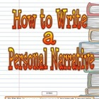Personal Narrative & Writing Process