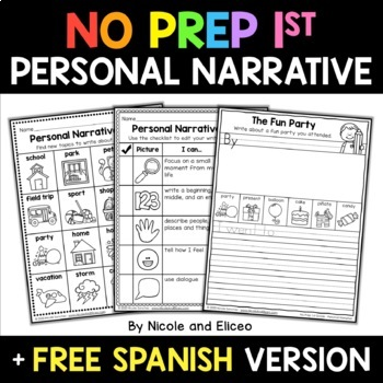 Writing Toolkit for Personal Narratives (English & Spanish)