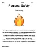 Personal Safety: Fire Safety Notes Pages