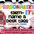 Personalize it! On the Farm theme Name and Desk Tags