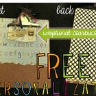 Personalized Alphabet Teacher Clipboard w/ Gift Card