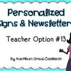 Personalized Teacher Materials: Option #13