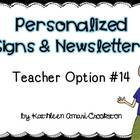Personalized Teacher Materials: Option #14