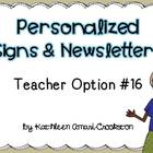 Personalized Teacher Materials: Option #16