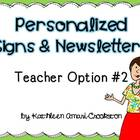 Personalized Teacher Materials: Option #2