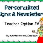 Personalized Teacher Materials: Option #6