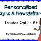 Personalized Teacher Materials: Option #9