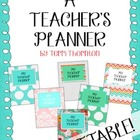 Personalized Teacher Planner {Editable}: 2013-2014